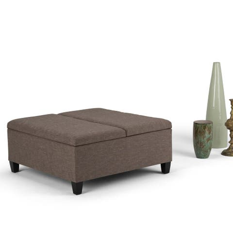 WYNDENHALL Tyler 36 inch Wide Contemporary Square Table Ottoman