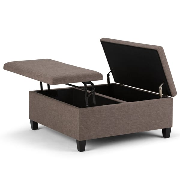Shop Wyndenhall Tyler Coffee Table Storage Ottoman With Lift Top