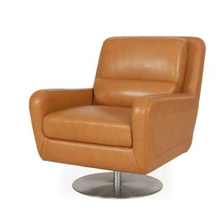 Swan Full top Grain leather Contemporary Chair