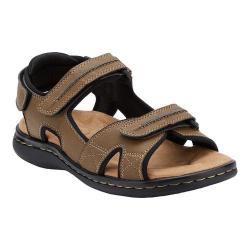 Men's Dockers Newpage Slide Sandal Dark Tan Synthetic