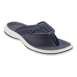 Men's Dockers Waldport Thong Sandal Navy Synthetic