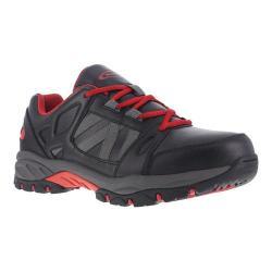 Men's Knapp Allowance Work Shoe Black/Red Leather