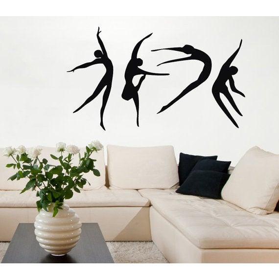 Shop dance ballerina girls decal gym wall decor vinyl sticker home