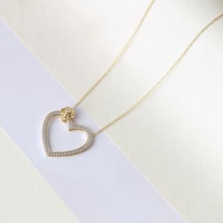 De Couer 1/20ct TDW Diamond Heart Necklace|https://ak1.ostkcdn.com/images/products/14402748/P20972567.jpg?impolicy=medium