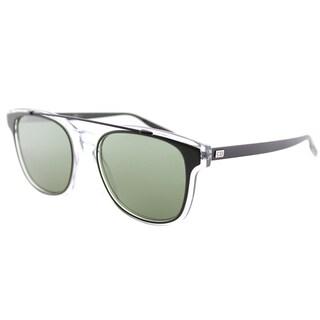 Dior BlackTie211S LCV EL Khaki Crystal Black Plastic Square Sunglasses with Green Lens