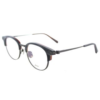 Brioni Night Day Grey Horn Plastic 50mm Round Eyeglasses
