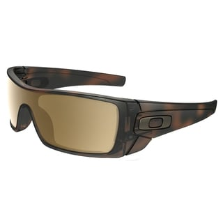 Oakley OO 9101 910153 Batwolf Matte Brown Tortoise Plastic Shield Sunglasses with Tungsten Iridium Lens