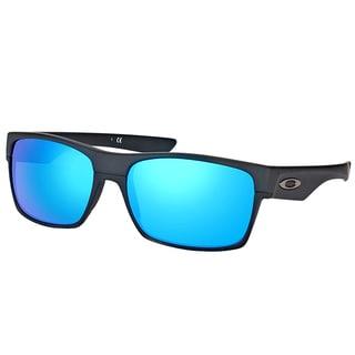 Oakley OO 9189 918935 TwoFace Matte Black Plastic Square Sunglasses with Sapphire Iridium Polarized Lens