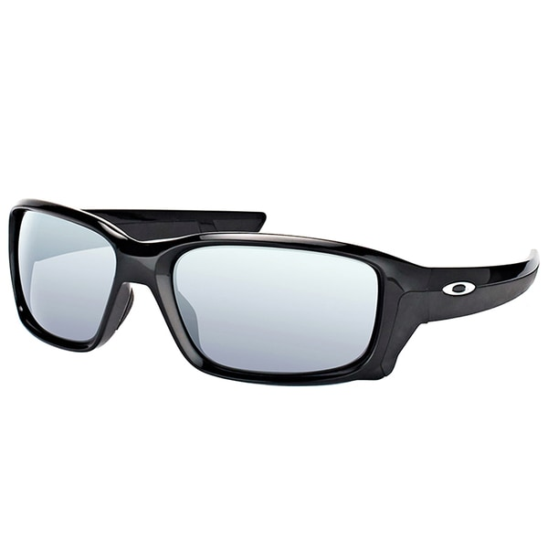 96a7261eb7 Oakley OO 9331 933101 StraightLink Polished Black Plastic Sport Sunglasses  with Black Iridium Lens