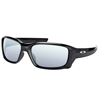 Oakley OO 9331 933101 StraightLink Polished Black Plastic Sport Sunglasses with Black Iridium Lens