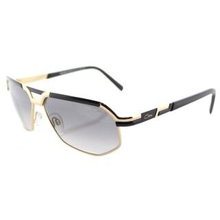 Cazal Cazal 9056 001SG Black Gold Metal Aviator Sunglasses with Grey Gradient Lens