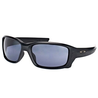 Oakley OO 9331 933102 StraightLink Matte Black Plastic Sport Sunglasses with Grey Lens