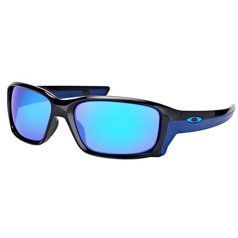 Oakley OO 9331 933104 StraightLink Polished Black Plastic Sport Sunglasses with Sapphire Iridium Lens