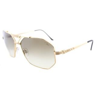 Cazal Cazal 9058 002SG Gold Metal Aviator Sunglasses with Brown Gradient Lens