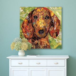 "Portfolio Canvas Decor ""Art Dog Dachshund"" Wrapped Canvas Wall Art"