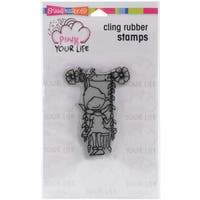Stampendous Pink Your Life Cling Stamp 6.5X4.5-Whisper Friend
