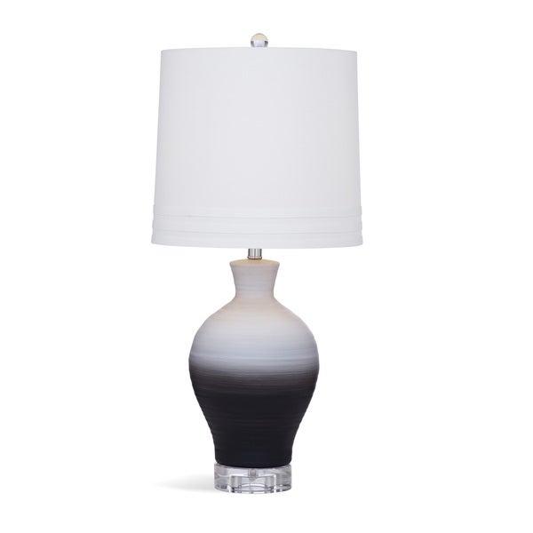 Landon 28-inch White/Grey Crystal Table Lamp