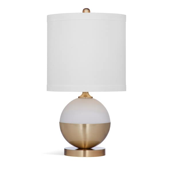 Bassett Mirror Company Salina White and Brown 22-inch Crystal Table Lamp