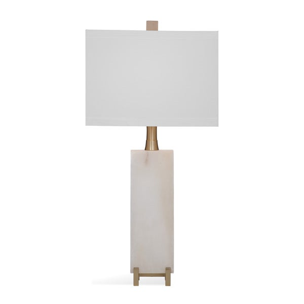 Bassett Mirror Company Amelie Off-white Glass 30-inch Table Lamp