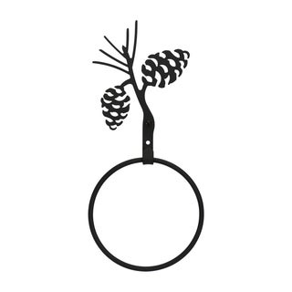 Iron Pinecone Towel Ring