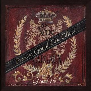 Tre Sorelle Studios 'Grand Vin Wine Label IV' Framed Art