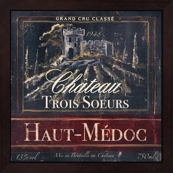 Tre Sorelle Studios 'Grand Vin Wine Label I' Framed Art - Free ... on