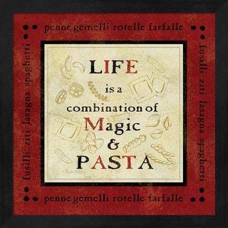 Pamela Gladding 'Pasta Sayings I' Black Framed Art