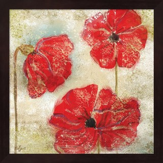 Rebecca Lyon 'Poppy Passion II' Framed Art