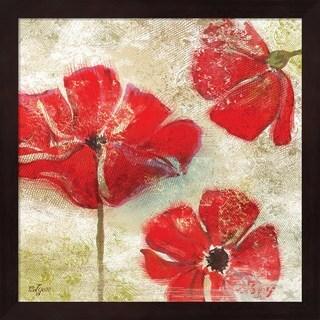 Rebecca Lyon 'Poppy Passion I' Framed Art