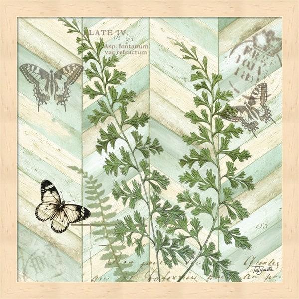 Tre Sorelle Studios 'Chevron Botanical I' Framed Art - Free Shipping on