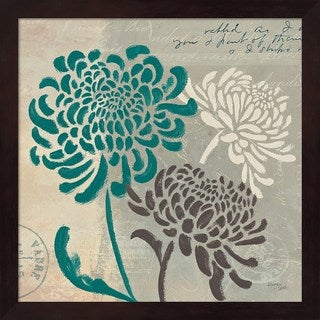 Wellington Studio 'Chrysanthemums I' Framed Art