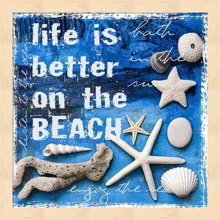 Andrea Haase 'Life is Better on the Beach' Framed Wall Art