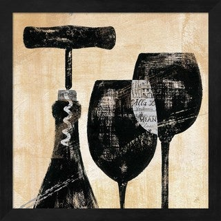 Daphne Brissonnet 'Wine Selection II' Framed Art