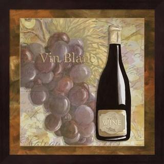 Megan Duncanson 'Wine 10' Mahogany Framed Art