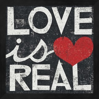 Michael Mullan 'Love Is Real Grunge Square' Framed Art