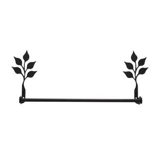 Wrought Iron Leaf Design Decorative Towel Bar