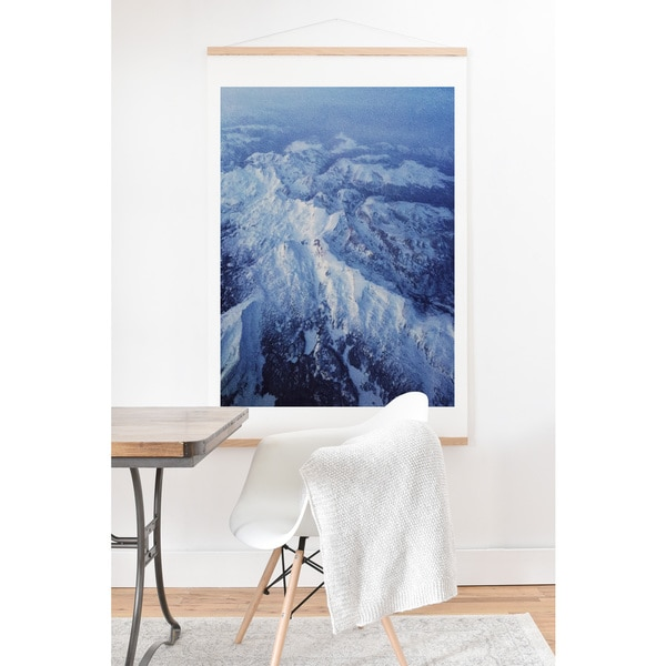 Leah Flores 'Winter Mountain Range' Wall Art with Hanger