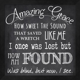 Veruca Salt 'Amazing Grace Chalkboard' Framed Art