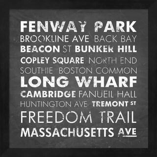 Veruca Salt 'Boston Cities' Framed Art