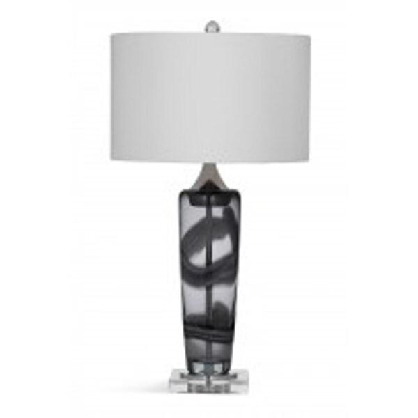 Bassett Mirror Company Nikola Grey/ Clear Ceramic 27-inch Table Lamp