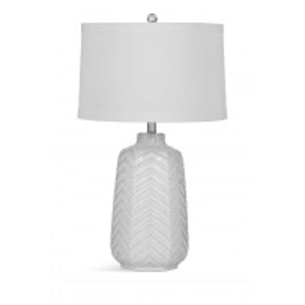 Bassett Mirror Company Dalia White Ceramic 28-inch Table Lamp