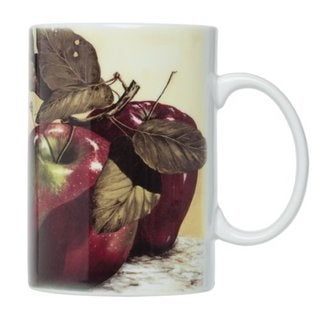 Apple-design Porcelain Mug Set (Pack of 4)