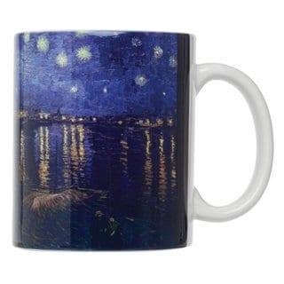Vincent Van Gogh Starry Night Over the Rhone Fine Art Porcelain 12-ounce Coffee/Tea Mug (Set of 4)