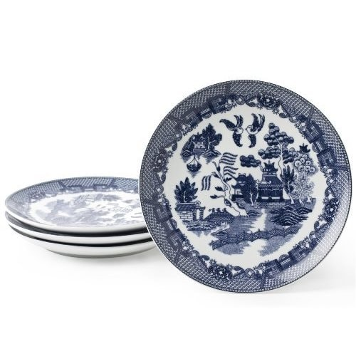 Blue Willow Blue Porcelain 7.25-inch Dessert Plates (Pack...