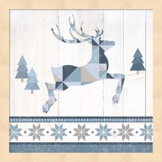 Wild Apple Portfolio 'Nordic Geo Lodge Deer III' Framed Art