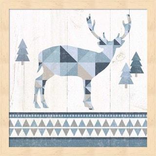 Wild Apple Portfolio 'Nordic Geo Lodge Deer I' Framed Art
