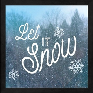 Sue Schlabach 'Let it Snow I' Framed Wall Art