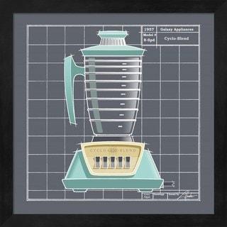 Larry Hunter 'Galaxy Blender - Aqua' Framed Art