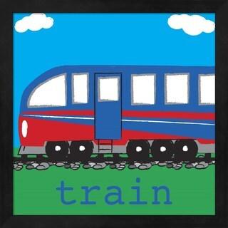 Melanie Parker 'Train - Modern' Framed Art