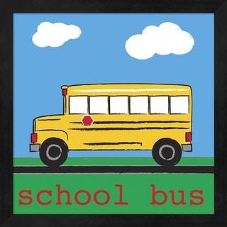 Melanie Parker 'School Bus' Black Framed Art